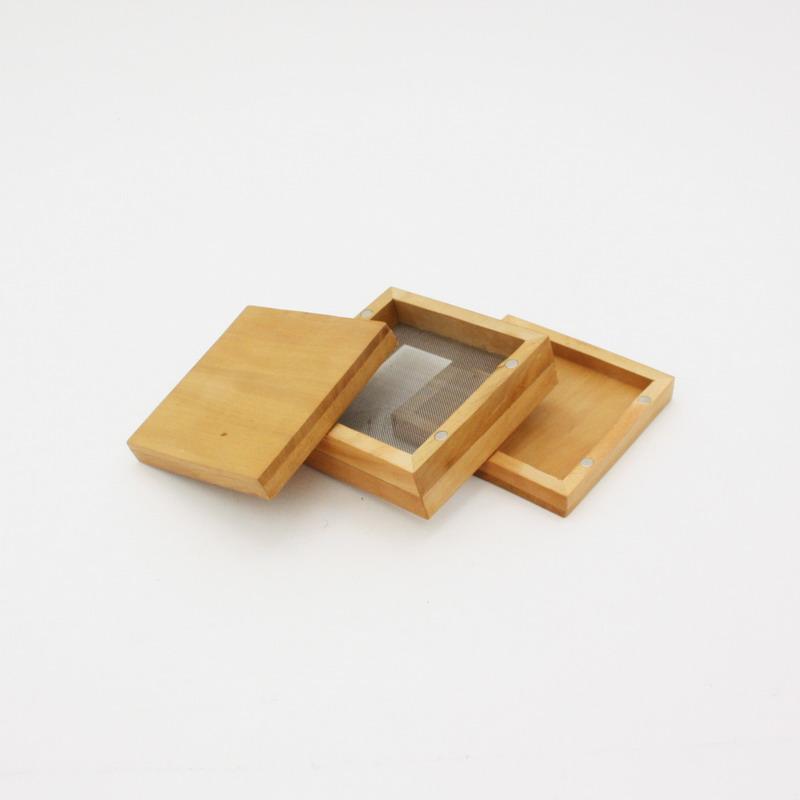 Wooden Pollen Sifter Kief Box 44